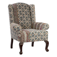 GUADO Occasional Chair Upholstery Wood Fabric