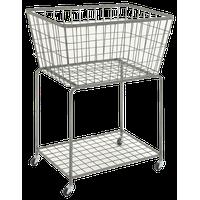Gray Industrial Metal Storage Cart, 36x28