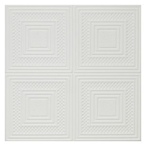 Decorative Ceiling Tiles Easy Installation Ultra Pure White SATIN painted R32W