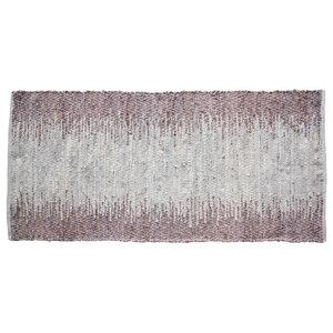 Ellen Leather and Cotton Rug, 60x90 cm