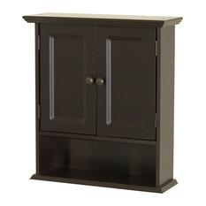 Zenith Products Corp - Zenna Home Espresso Collette Wall Cabinet, Espresso - Kitchen Cabinetry