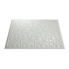 "18""x24"" Fasade Traditional 1 Backsplash Panel, Gloss White"