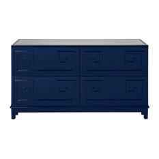 Worlds Away 4 Drawer Dresser Navy Lacquer Dressers