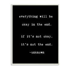 lulusimonSTUDIO Everything Will Be Okay in the End Wall Plaque