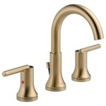 Delta - Delta Widespread Faucet With Lever Handles, Champagne Bronze - California Energy Commission Registered Lead Law Compliant 2 Handle Widespread Bath