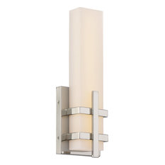 Grill Single LED Wall Sconce, Silver