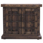 FoxDen Decor - Boone Old World Vanity, Espresso, 42x22x36 - The Boone Old World Vanity is a great mixture of rustic and old world features.  This gorgeous piece offers 2 fully functional doors with room for both storage and small items. This is the perfect piece for any bathroom looking for a unique piece that is sure to stand out.  The Boone is crafted from solid reclaimed wood and oversized oxidized nail heads around the top.