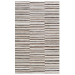 Rug Inspiration - Rustic BHS-0081354 Crafted Hair On Hide Dark Brown Stripe Door Mat | 2' x 3' - Add a touch of rustic elegance to your home with the Zander Collection by Biz & Haus. These rugs are hand crafted, radiating an atmosphere that can only be created by a handmade rug. Made with Hair On Hide in India, and has No Pile. Spot Clean Only, One Year Limited Warranty.