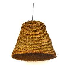 Woven pendant lighting houzz artesania san jose sau hand woven straw coolie pendant light pendant lighting aloadofball Gallery