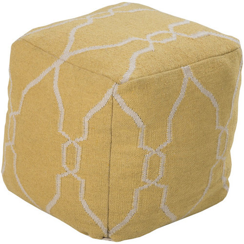 Surya Poufs- (POUF-22) - Floor Pillows And Poufs