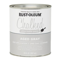 Rust-Oleum 285143 Chalked Ultra Matte Paint, 30 Oz., Aged Gray