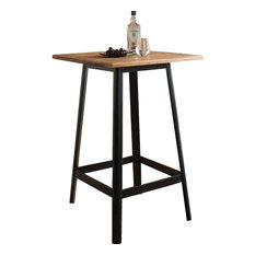Acme Jacotte Bar Table Natural And Black