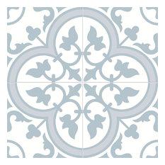Ledbury Powder Blue Patten Tiles, 1 m2