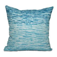 "Ocean View, Geometric Print Pillow, Teal, 20""x20"""
