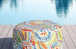 OVE Decors Marlowe Ottoman, Multicolor