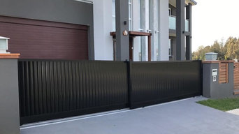 Automatic gates , Aluminium slats Lourve , framed timber , fence panels