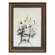 """Aubrey Schwartz """"Cabalist"""" Ink Drawing"""