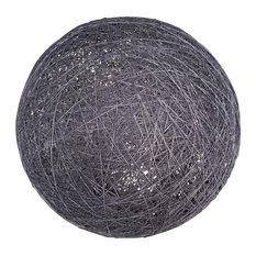 Sphere Globe Floor Lamp, Grey, Large