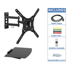 Mount-It! Full Motion TV Wall Mount With Floating Entertainment Shelf
