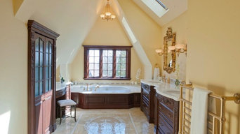 Before and After Tradition Montclair Bath with a Modern Flare