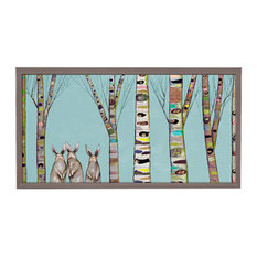 """Bunnies In The Woods"" Mini Framed Canvas by Eli Halpin"