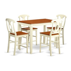 5-Piece Counter Height Dining Room Set, Pub Table And 4 Kitchen Bar Stool
