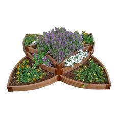 """Sienna Raised Garden Bed Versailles Sunburst 8'x8'x16.5"""", 2"""" Profile"""