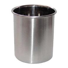 nu steel 4-Quart Utensil Holder, Brushed Stainless