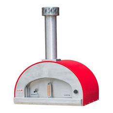 Forno Bravo Grande32 Countertop Portable Wood Fired Pizza Oven - Red
