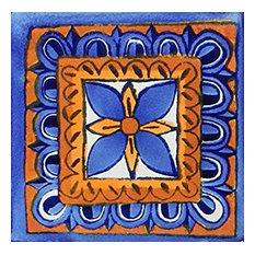 "6""x6"" Mexican Talavera Handmade Tiles, Set of 40"