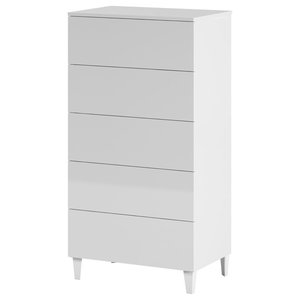 Loft 5-Drawer Chest, White