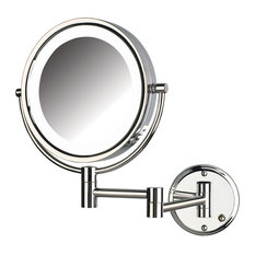 Wall Mount Magnifying Mirror wall-mounted lighted makeup mirrors | houzz