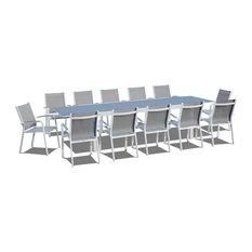 13-Piece Extendable Modern Patio Dining Set