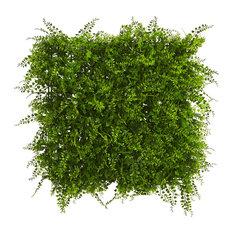 Lush Mediterranean Artificial Fern Wall Panel UV Resistant