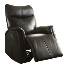 Riso Rocker Recliner, Motion, Black Leather-Aire