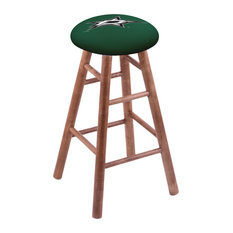 Maple Extra Tall Bar Stool Medium Finish With Dallas Stars Seat 36-inch