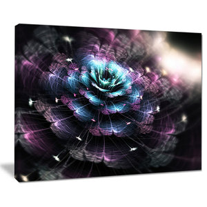Growing Radial Green Fractal Flower Art Floral Canvas Artwork Print Contemporary Prints And Posters By Design Art Usa Houzz