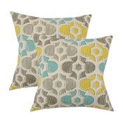 Bhayva Geometric Throw Pillows, Laken, Set of 2, Laken