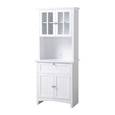 Os Home And Office Buffet And Hutch With Framed Glass Doors And Drawer