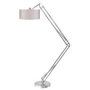 Milano Floor Lamp With Silver Frame