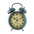 Teal Double Bell Clock