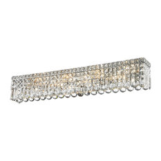 "8 Lights 36"" Long Clear Crystal Wall Sconce Bathroom Vanity Light"