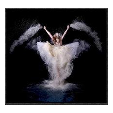 """Powder Rush"" Framed Canvas Giclee by Pentony Bapauline, 17x16"""