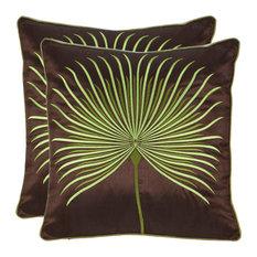 """Safavieh Leste Verte Pillows, Set of 2, 18""""x18"""""""