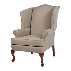 comfort pointe erin wingback chair beige armchairs and accent chairs
