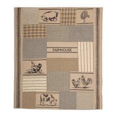 Farmhouse Decor Miller Farm Farm Animal Throw Rod Pocket Cotton Nature Print