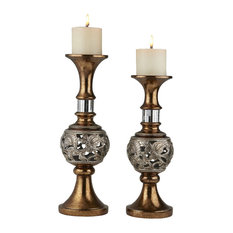 """14"""" and 16""""H Langi Candleholder Set, Candles Included"""