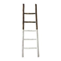 Millie Blanket Ladder, French Roast and Linen White