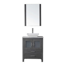 "Dior 24"" Single Bathroom Vanity Cabinet Set, Zebra Gray"