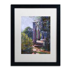 "David Lloyd Glover 'Climbing Roses' Art, Black Frame, 16""x20"", White Matte"
